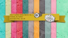 Crazy Summer Papers Painted Vol 2 by Debora's Creations (CU)