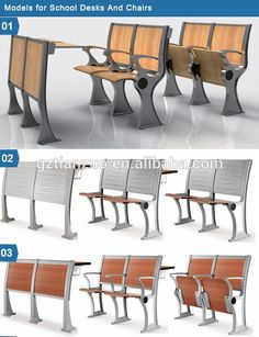 WL 908M Aluminium Frame University School Desk Chair Furniture South Africa