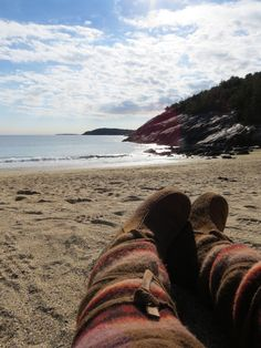 Destiny Skubis - There's always time to sit back and soak it all in. - Coastal beach in Maine. #mukluk #stegermukluks