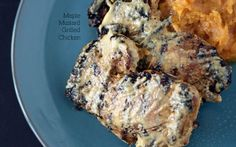 maple, mustard grilled chicken thighs #paleo
