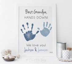 Grandfather cute fathers day Baby Boy Baby Vest Father