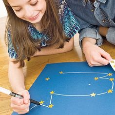 could use this for constellations certification.  One person puts the star stickes in the shape and the other has to draw what they represent.