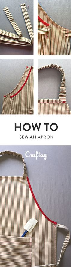 Whether you're a gardener, a cook, an artist or anyone who gets messy, an apron can come in handy! Aprons take a small amount of fabric and are great for using up your mix-and-match scraps. Here's how to sew an apron that you can customize to fit any activity. @craftsy