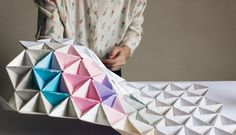 As a paper artist, I am constantly experimenting with new ways to use origami that showcase the essence of Japanese aesthetics. This framed modular origami wall display is a unique and striking way of Origami Modular, Diy Origami, Origami Wall Art, Origami Tutorial, Oragami, Origami Boxes, Dollar Origami, Origami Ball, Origami Instructions