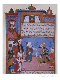 Rumi Offering his Belt to a Beggar, late 16th century