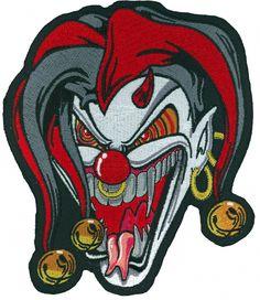 Jester Face patch - Aufnäher Clown Gesicht - chevron El bufón de la cara - нашивка Лицо Шута