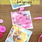 Spring Decor Idea: Magazine Image Transfer Canvases