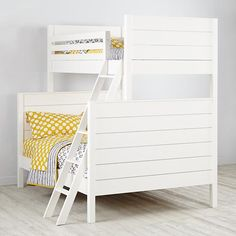 Uptown Twin-Over-Full Bunk (White)  | The Land of Nod. $1799. 78.5 long x 56.75 wide x 75.75 high