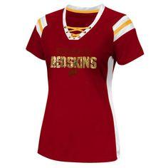 Washington Redskins Women's Pride Playing IV V-Neck T-Shirt - Burgundy