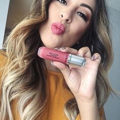 @arlynesanjines newest obsession? Revlon Ultra HD Matte Lipcolor in Kisses. Double tap if you've tried it! # #regram #ad Eye Candy Makeup, Kiss Makeup, Beauty Makeup, Revlon Matte Lipstick, Lipstick Shades, Lipstick Colors, Beauty Lookbook, Barbie Makeup, Lipstick Collection