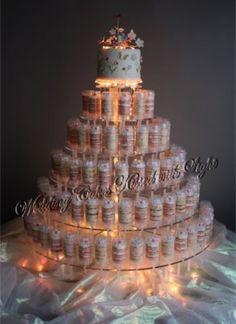 wedding cake with push up pops Cake Push Pops, Push Up Pops, Cake Pops, Beautiful Wedding Cakes, Gorgeous Cakes, Wedding Cupcakes, Wedding Cake Toppers, Cake Wedding, Cake Pop Displays