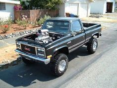 Lifted Chevy Classic Truck