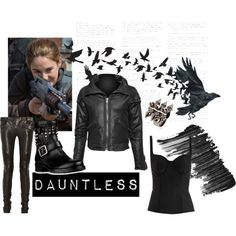 """Divergent: Tris Costume (Dauntless)"" on Polyvore"