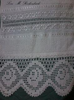 bainha-aberta e eplicação de renda guipure com crochet