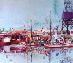 Aguarelas do pintor Joaquim Canotilho em Cascais