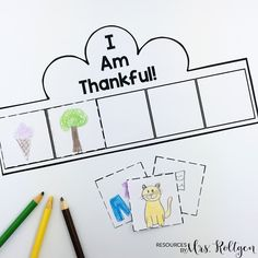 "Thankful Activities for Kindergarten {Plus a FREEBIE!} | Resources by Mrs. Roltgen --- Thankful Activities for Kindergarten {Plus a FREEBIE!} | You're going to love using this great download with your Kinder classroom or homeschool students. Click through to see the writing activities, turkey flip book, craft, ""I am thankful"" book, ""We are thankful"" class book, and crown. Plus there's a FREE download. Great to use during November or the week before fall break. Grab it now!"