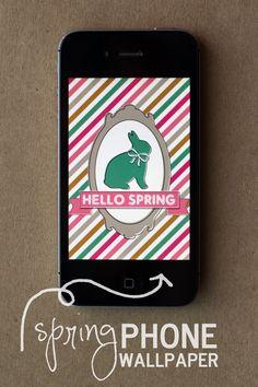 eighteen25: spring iphone wallpaper