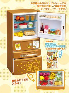 Re-ment Rilakkuma Refrigerator - Ichigo-Toys