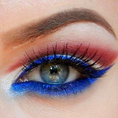I wanted to do a fun look for Memorial Day, in red, white, and blue.