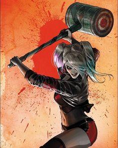 Harley Quinn - Art Illustration By Comics Conspiracy Le Joker Batman, Harley Quinn Et Le Joker, Der Joker, Batman Dark, Dc Comics Art, Comics Girls, Comic Book Characters, Comic Books Art, Marvel Dc