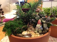 Dragonfly Hollow located in Orange CA made this fairy garden.  www.wholesalefairygardens.com