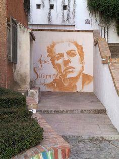 Joe Strummer en el Realejo (grafiti de El niño de las pinturas)