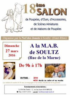 affiche 18ème Salon Ours et Poupées