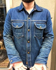 """7e5a284712 Statement - The Denim Store on Instagram  """"Holy Grail Status! This  Indigofera Fargo shirt reflects the almighty power of natural denim  evolution in full ..."""