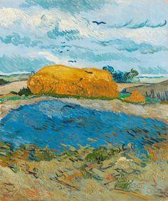 Van Gogh, pila di grano sotto un cielo nuvoloso, ottobre 1889. Olio su tela, 64 x 52.5 cm. Kröller-Müller Museum, otterlo.