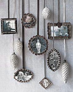 ☆ White Christmas Wonderland ☆  christmas ornaments with family photos
