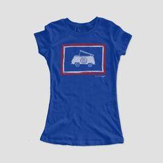 Ladies' Bus Flag Tee | Wyoming flag | VW Campmobile | VW Bus | Volkswagen life