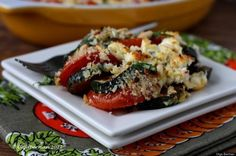 Zucchini, Tomato And Feta Gratin