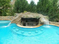 Did You say Give Me a Pool that has it All?? Ok, here it is -- A Pool With Slide, Waterfall Grotto AND Swim Up Bar!!!  Love it??