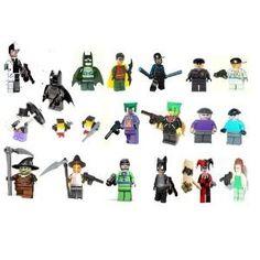 LEGO BATMAN INCLUDES: 20 batman mini figures- Two Face, gray batman, black batman, robin, nightwing(with cap), white Arkham guard, dark arkham guard, penguin, 2 x penguin's thugs, joker, greenbomb head redeye joker, joker's thug, freeze's thug, scarecrow, pumpkin bomb head scarecrow, riddler, catwoman, harley quinn, posion ivy(curly hair), every thing in photo included. Authentic batman L.... $399.99. LEGO BATMAN INCLUDES: 20 batman mini figures - two face, gray batman, b...