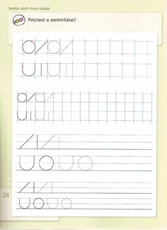 DIFER Fejleszt fzetek rs Preschool Writing, Worksheets, Bullet Journal, Chart, Armin, Petra, Gross Motor, Writing, Preschool