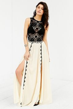 Amuse Society Sia Crochet-Top Maxi Dress from Urban Outfitters on Catalog Spree, my personal digital mall.