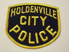 Holdenville City Oklahoma Police Patch
