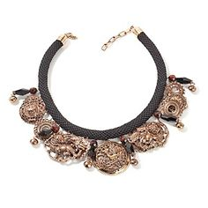 """Statements by Amy Kahn Russell Bold Medallion Bronze 18"""" Necklace at HSN.com."""