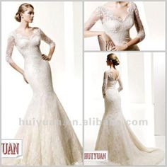 1.illusion sleeve wedding dress2.it made of satin and lace3.court train 4.many colors are available5.ourself factory