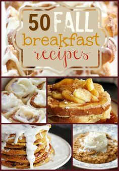 fallbreakfastrecipes http://lecremedelacrumb.com/2013/11/fall-time-breakfast-roundup.html