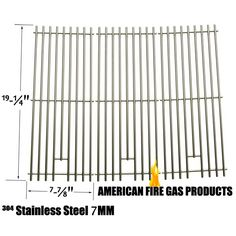 3 PACK HEAVY DUTY REPLACEMENT STAINLESS STEEL COOKING GRATES FOR CAPTN COOK, SAMS 720-0584A, MEMBERS MARK 720-0584A AND MEMBERS MARK 720-0584A GAS GRILL MODELS  Fits Captn Cook Models : XG4CKWNA  BUY NOW @ http://grillrepairparts.com/shop/grill-parts/3-pa