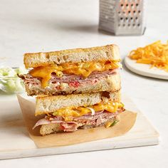 Ham and Pimiento Grilled Cheese
