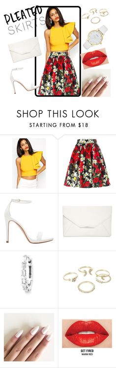 """""""pleated skirt!"""" by didimarley on Polyvore featuring Dolce&Gabbana, Zara, Style & Co., Stone Paris, Lipsy, Smashbox, Kate Spade and pleatedskirts"""