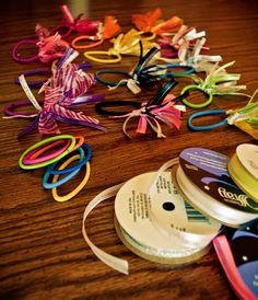 DIY hair things for little girls. So easy and super inexpensive!! #crafts #kids #hair
