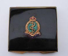 Royal Army Medical Corps - vintage enamel compact - no reserve