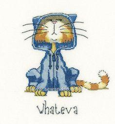 Buy Whateva Cross Stitch Kit Online at www.sewandso.co.uk