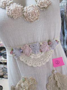 Vintage Kitty tunic sash calico raggy