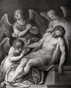 Phillip Medhurst presents John's Gospel: Bowyer Bible print 5631 Jesus is laid in the sepulchre John 19:42 after Carracci on Flickr. A print from the Bowyer Bible, an extra-illustrated copy of...