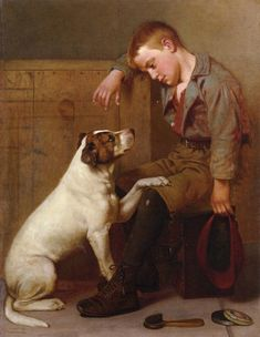 """""""Best Friends"""" -- by John George Brown (1831 – 1913, English-born American)"""