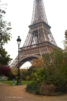 Sheila at Lamp Post at Eiffel Tower